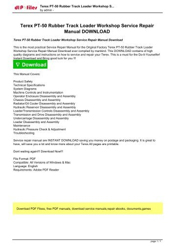 terex pt 50 rubber track loader workshop service repair manual download?quality\\\=85 forestry mulcher wiring diagram skid steer forestry mulcher rental Skid Steer Forestry Mulcher Rental at readyjetset.co
