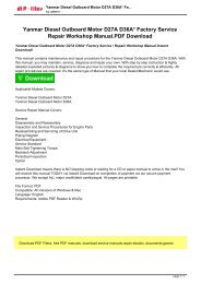 Yanmar Diesel Outboard Motor D27A D36A Factory Service  Repair Workshop Manual Instant Download!.pdf