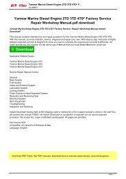 Yanmar Marine Diesel Engine 2TD 3TD 4TD Factory Service  Repair Workshop Manual Instant.pdf