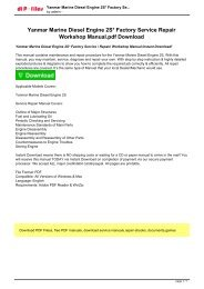 Yanmar Marine Diesel Engine 2S Factory Service  Repair Workshop Manual Instant Download!.pdf
