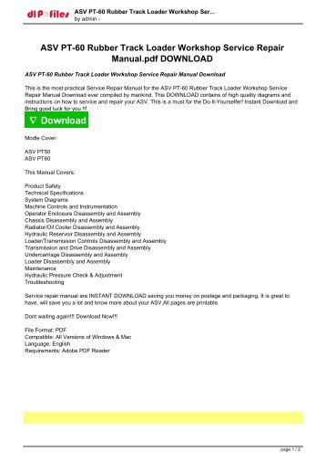 asv pt 60 rubber track loader workshop service repair manualpdf download?quality\\\=85 asv rc 50 wiring diagram international wiring diagram \u2022 free  at n-0.co