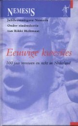 EEUWIGE KWESTIES Honderd jaar vrouwen en recht in ... - Nemesis