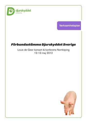 Verksamhetsplan 2012-2013 - Djurskyddet Sverige