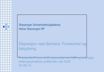 Depresjon ved demens - Helse Stavanger
