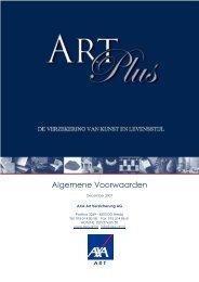 ARTPLUS | Algemene voorwaarden - AXA ART
