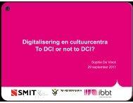 De context van digitalisering en de cultuur- en gemeenschapscentra