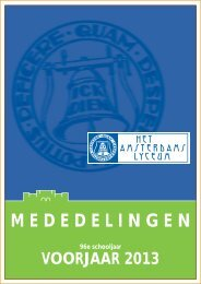 voorjaar 2013 - Het Amsterdams Lyceum