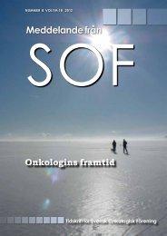 Meddelande från - Svensk Onkologisk Förening