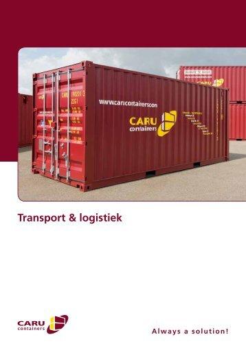 Klik hier voor onze transport & logistiek folder! - CARU Containers