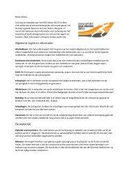 Algemene regels en informatie: De wedstrijd: - ESAV Asterix