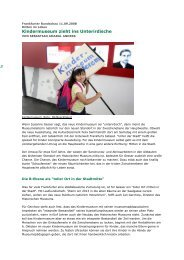 Kindermuseum zieht ins Unterirdische - im kinder museum frankfurt