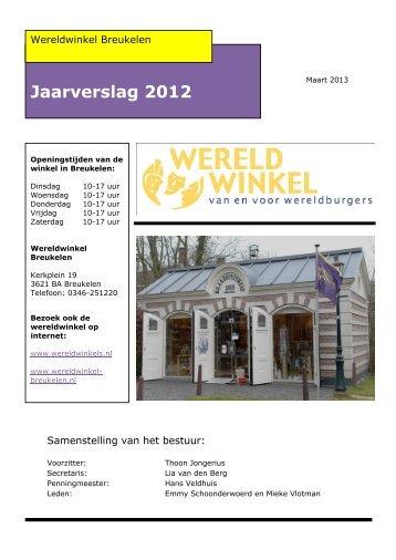 Jaarverslag 2012 - Wereldwinkel Breukelen