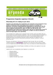 Programma Urgenda regiotour Utrecht - GroenLinks Amersfoort