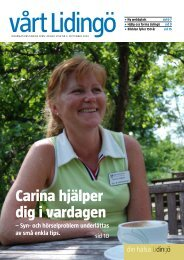 Carina hjälper dig i vardagen - Lidingö stad