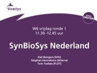W6 Software-programma SynBioSys (pdf) - Nederlands instituut ...