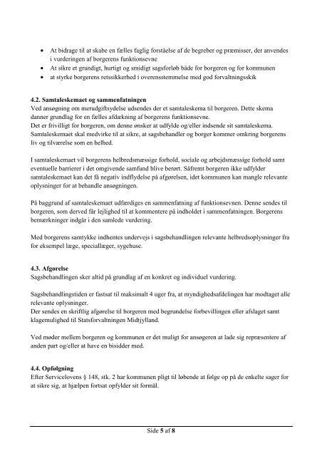 Dækning af nødvendige merudgifter efter servicelovens §100
