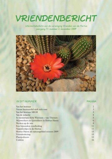 Vriendenbericht, jaargang 71, nummer 2, december 2009
