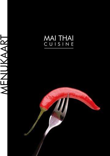MENUKAART - Mai Thai