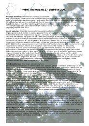 Samenvattingen lezingen Programma WBN Lustrum - Werkgroep ...