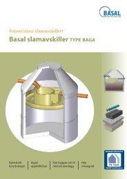 Basal slamavskiller TYPE BAGA - Nobi - Norsk Betongindustri