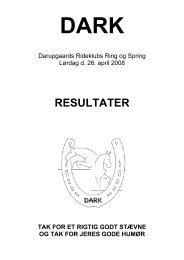 RESULTATER - Darupgaards - Rideklub