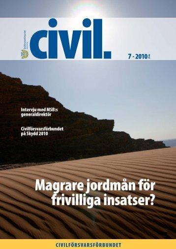 Magrare jordmån för frivilliga insatser? - Civilförsvarsförbundet