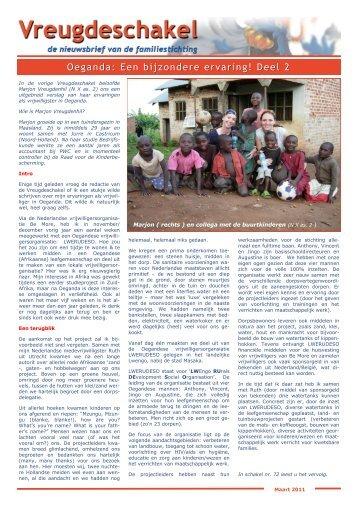 Oeganda: Een bijzondere ervaring! Deel 2 - Familiestichting ...