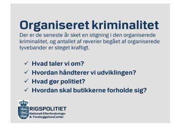 Organiseret kriminalitet - BAR Handel