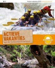 Brochure Actieve vakanties - Portakal Toerisme