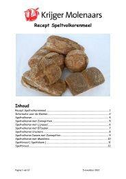 Recept Speltvolkorenmeel - Krijger Molenaars