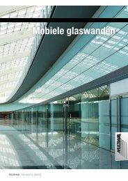 Mobiele glaswanden - Multiwal