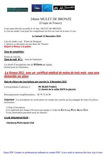 24ème MULET DE BRONZE - FNPSA-Normandie