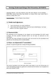 verslag ouderraad 22 oktober 2012