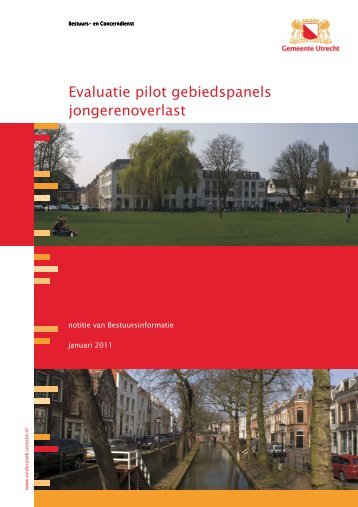 Notitie Evaluatie pilot gebiedspanels jongerenoverlast - Utrecht.nl ...