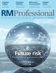 Spring 2013 - Risk Management Professional