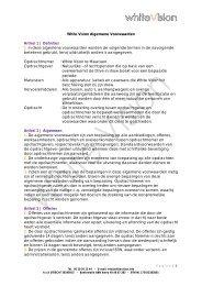 White Vision Algemene Voorwaarden Artikel 1 | Definities 1. In deze ...