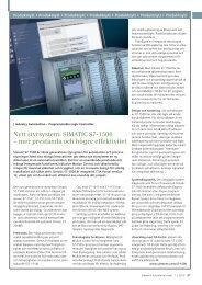 Nytt styrsystem: SIMATIC S7-1500 - Industry - Siemens