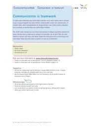 Communiceren is teamwork (pdf) - Vilans