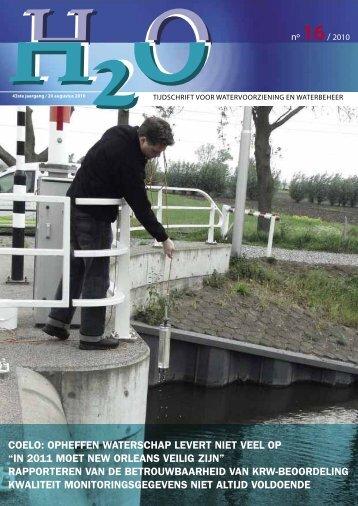 Inhoud H2O nummer 16, augustus 2010 - H2O - Tijdschrift voor ...