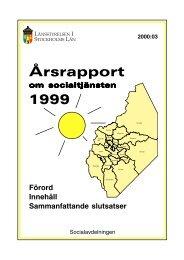 Rapport nr 3:2000, Årsrapport om socialtjänsten - Länsstyrelsen i ...