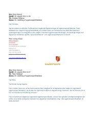 Korrespondance med Trafikstyrelsen - Guldborgsund Kommune