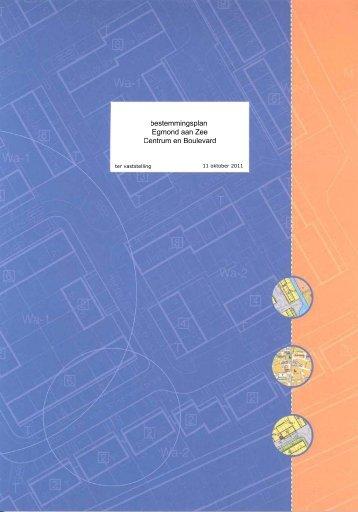 Bestemmingsplan Egmond aan Zee - Bestuurlijke informatie van de ...