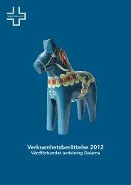 Verksamhetsberättelse 2012 - Vårdförbundet