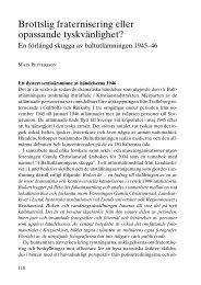 Brottslig fraternisering eller opassande tyskvänlighet? - Föreningen ...