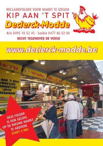 Download onze reclamefolder - Kip aan het spit Declerck-Modde