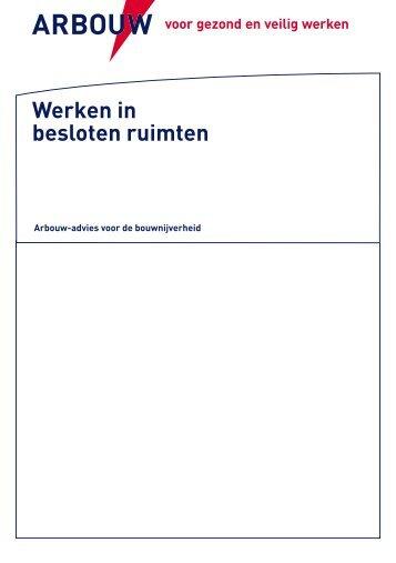 NL - Advies werken in besloten ruimten - Arbouw