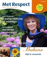 MetRespect 2013 ZomerEnJaarbericht.pdf - RESPECT Zorggroep ...