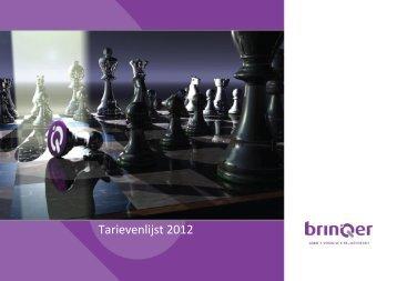 Download BrinQer Tarievenlijst 2012
