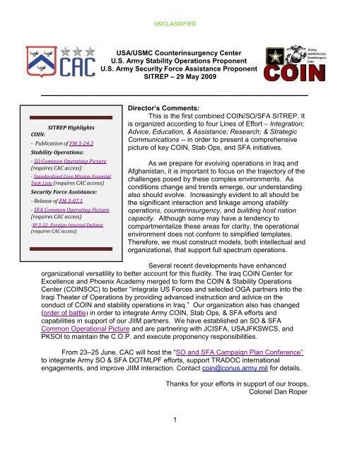Usa Usmc Counterinsurgency Center Us Army Harmonieweb