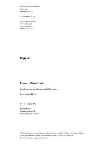 Gelderse museummonitor 2002 - Gelders Erfgoed